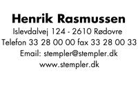 Colop 3600 Stempel Inkl. egen tekstplade og valgfri farvepude